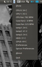 ubuntu temperature