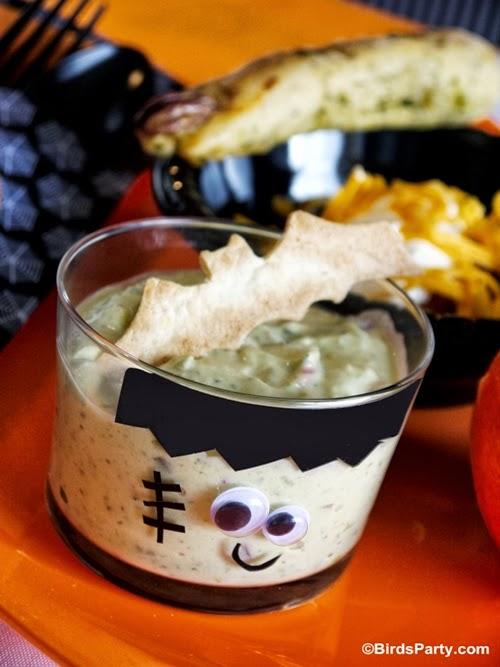 Halloween Gruesome Guacamole Recipe - BirdsParty.com