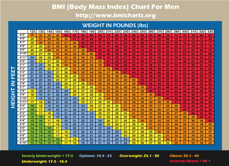 Body mass index chart female version for women.