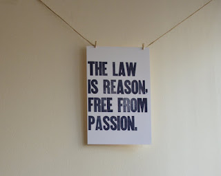 The Law is Free From Passion print | brazenandbrunette.com