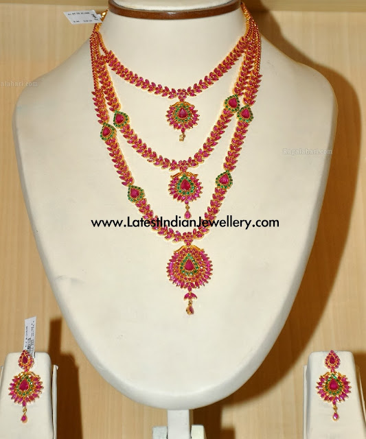 3 Step Bridal Ruby Haram