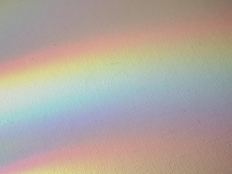 Reflecting a rainbow off of a CD
