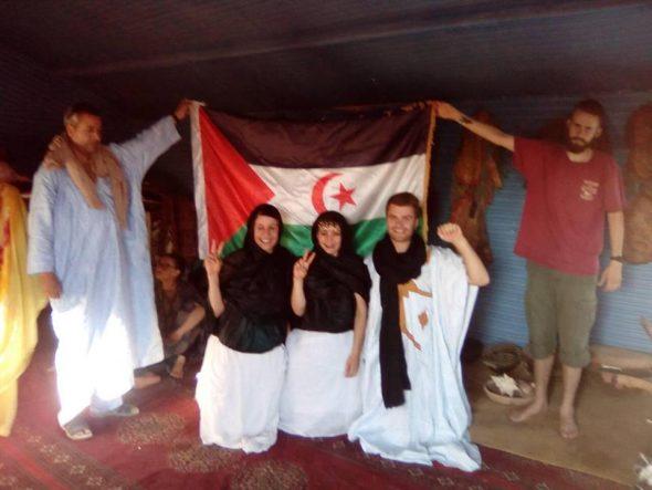 مجموعة شبانية وطلابية قادمة من ألمانيا تشارك في ورشات للتعرف على ثقافة الشعب الصحراوي