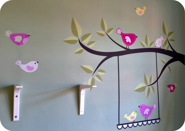 Enchanted Interiors Singing Birds Stickers on the wall