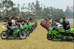 Sunmori Pertama Para Biker New Ninja 250 Rame Puolll Cakkkk
