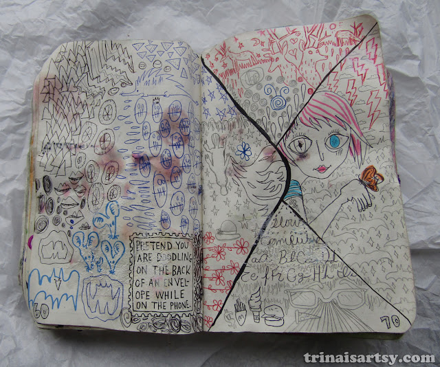 Wreck this Journal -  Doodle on the back of this envelope