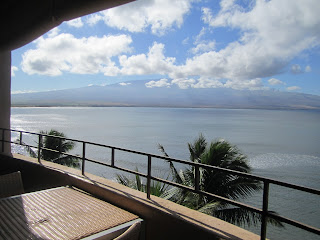 View from balcony of Maui Island Sands Resort.