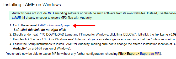 Could Not Save File In Audacity? | Lame Installation | Solution