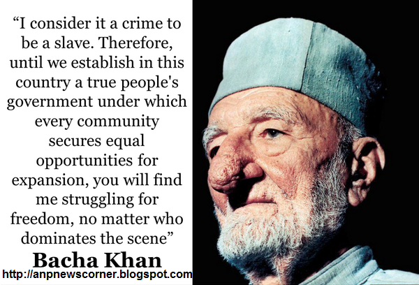 anp bacha khan quote photo