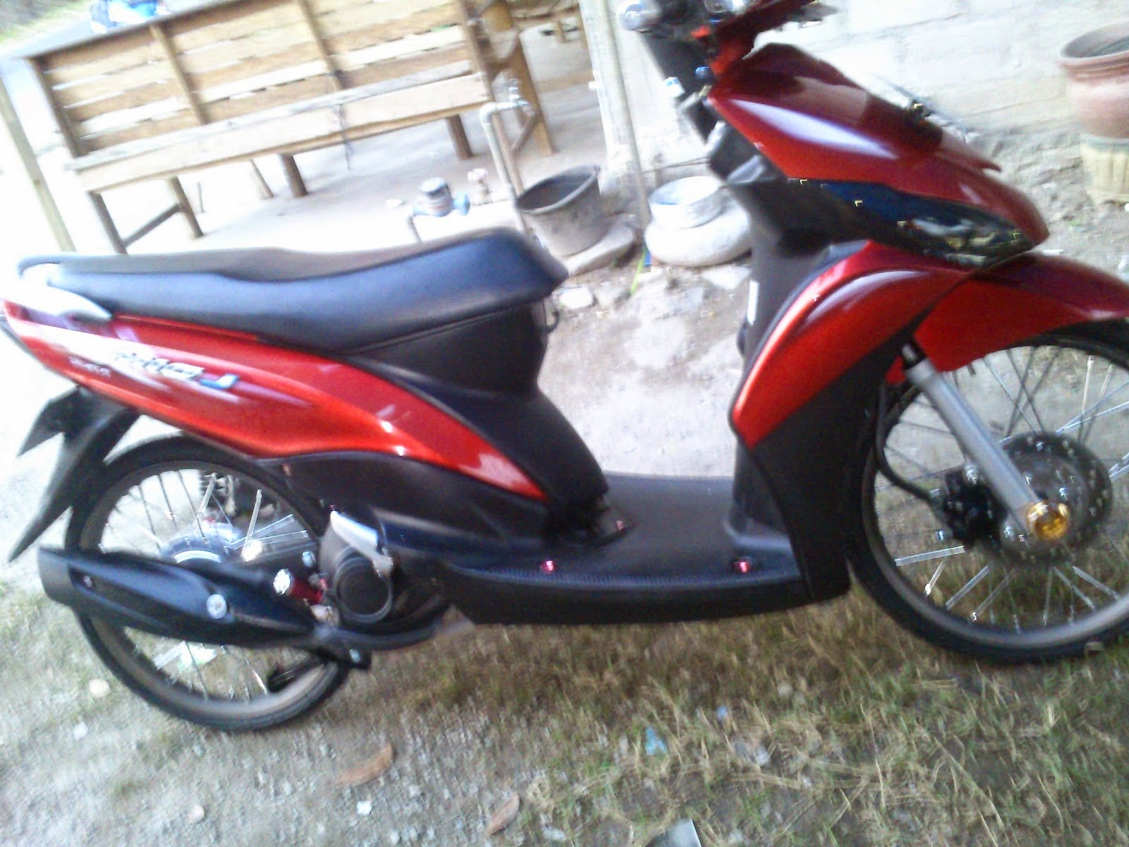 Modifikasi Motor Mio J Merah Pecinta Modifikasi