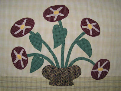 Block C, Glories, for Linda Brannock's Flowers Quilt pattern