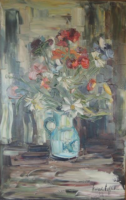 Irene Lafitte pintura cuadro flores
