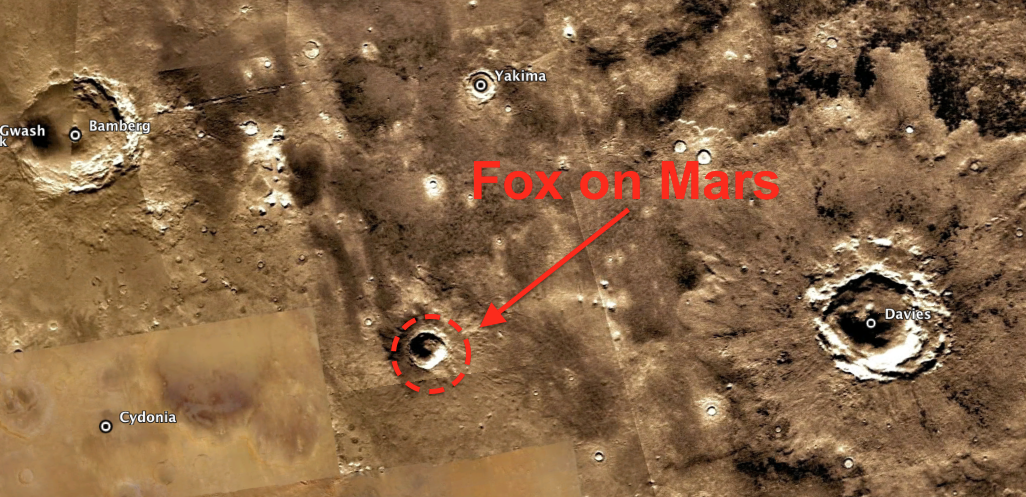 Firefox Symbol Discovered On Mars Surface In Crater, Jan