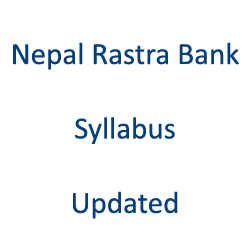 Nepal Rastra Bank Syllabus New Updated
