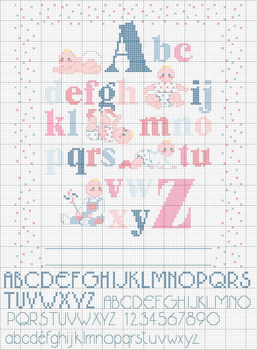 Magliamagia schemi punto croce alfabeti for Alfabeti a punto croce per bambini