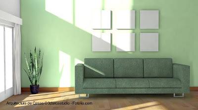 Ambiente interior de una casa moderna con estilo Contemporáneo