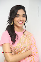 Actress Ritu Varma Pos in Beautiful Pink Anarkali Dress at at Keshava Movie Interview .COM 0364.JPG