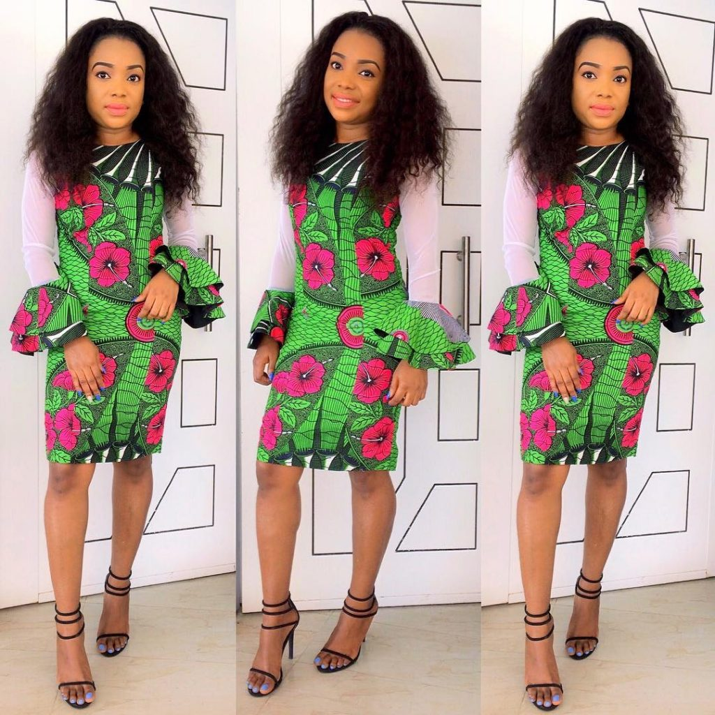 Ankara Peplum Short Gown Styles For Ladies Dezango