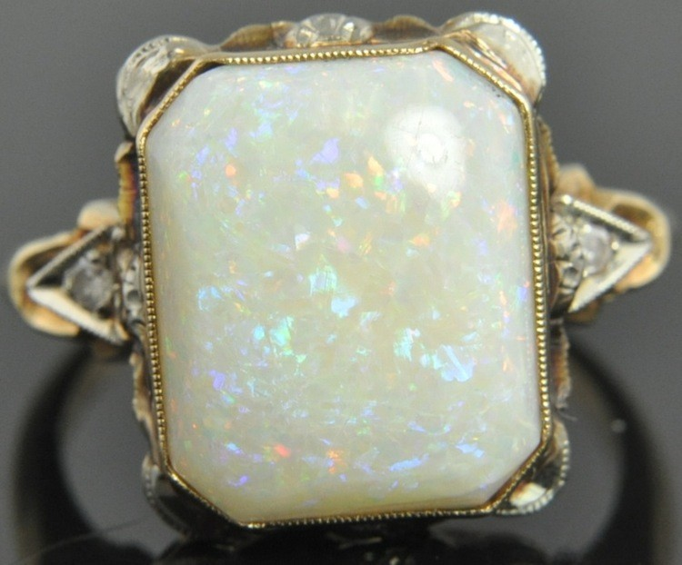Delightfully Deco Rare Finds Antique Opal Rings