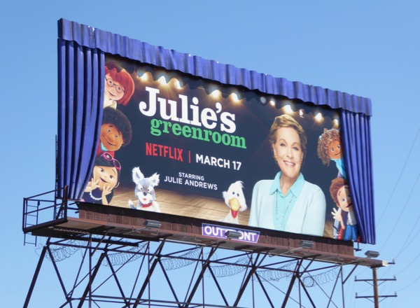 Julies Greenroom special curtains billboard installation
