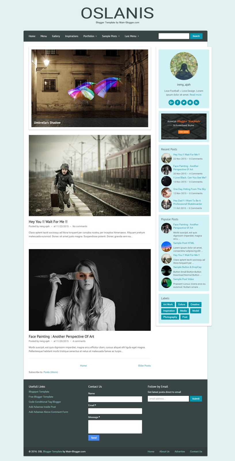 oslanis - responsive blogger template untuk fashion blog