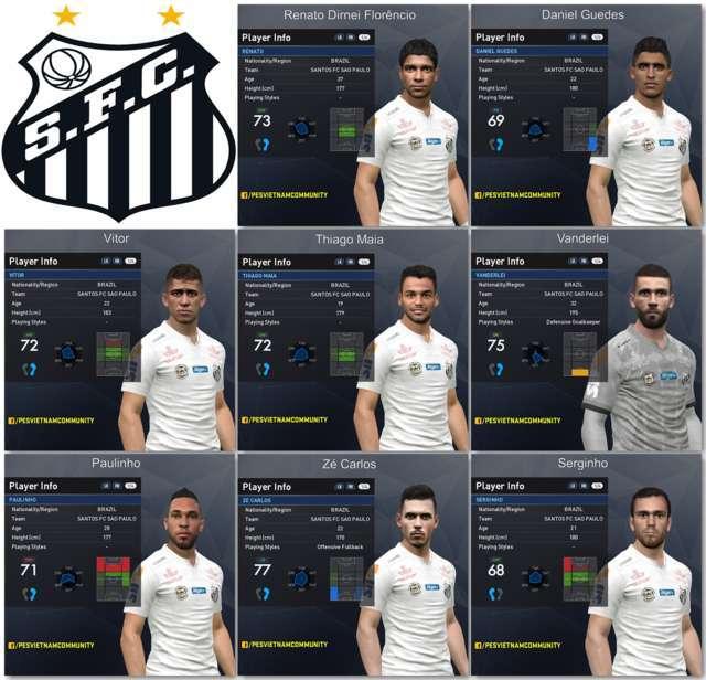 PES 2017 Santos FC Facepack