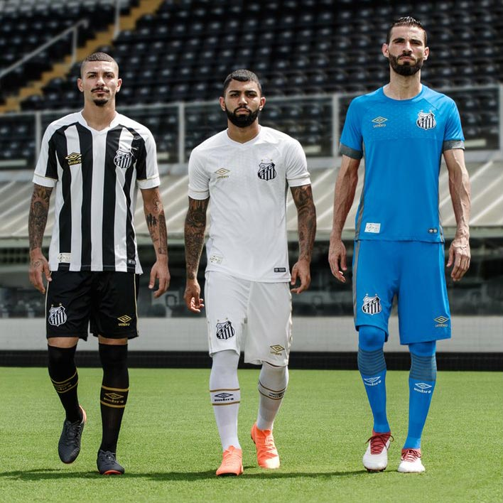 f39fcc8ec9 Confirming the previous last-minute leak, Umbro and Santos last night  launched the club's new home and away uniforms, set to be worn during the  2018 season.