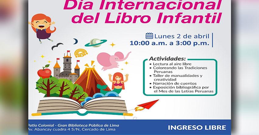 Actividades por el Día Internacional del Libro Infantil - BNP - www.bnp.gob.pe