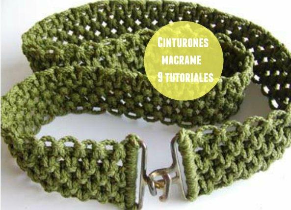 9 Cinturones distintos de macrame Tutoriales
