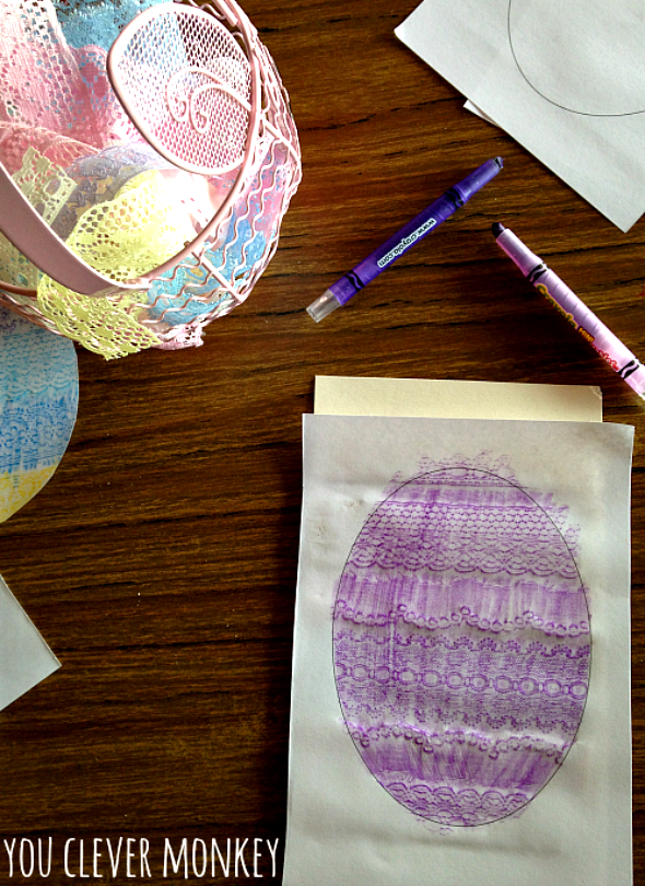 Easy Paper Easter Art Idea - using a simple technique that can be easily recreated at home or in the classroom | you clever monkey