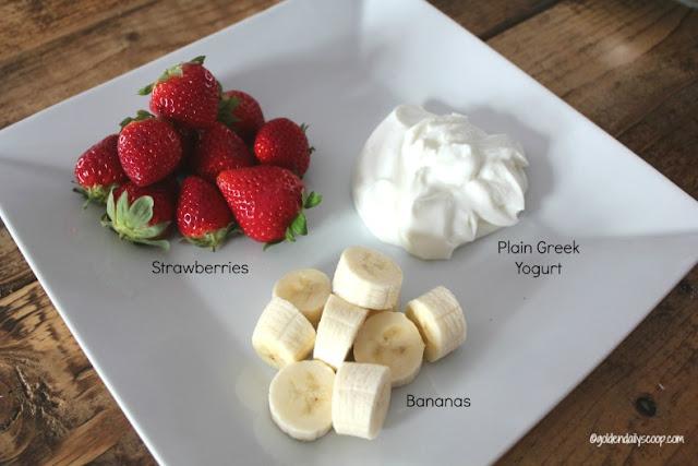 healthy strawberry and banana frozen dog treats