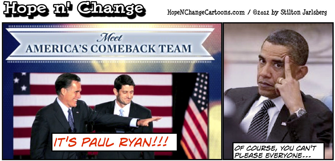 Mitt Romney chooses Paul Ryan for VP, hopenchange, hope n' change, hope and change, election, obama jokes, tea party, stilton jarlsberg