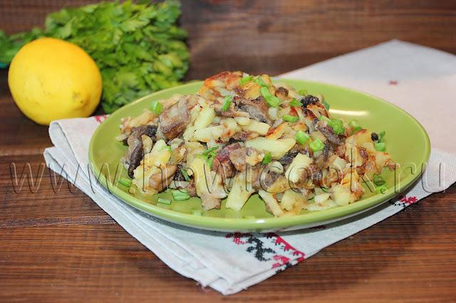 рецепт жареного картофеля с грибами