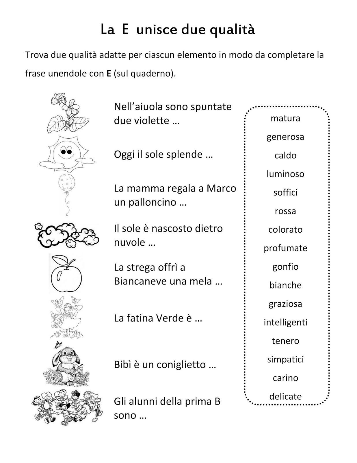 Estremamente Scuola di pensiero: Schede didattiche: e congiunzione, è verbo. JM85