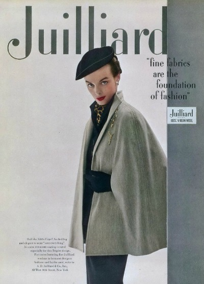Magazine Cover of Model in Pauline Trigere Wool Cape