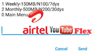 Airtel Youtube flex Data bundle Plan Free Browsing codes