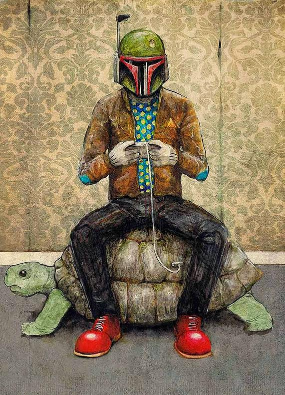 04-Boba-Fett-Luke-Tobias-Surreal-Drawings-from-Popular-Culture-www-designstack-co
