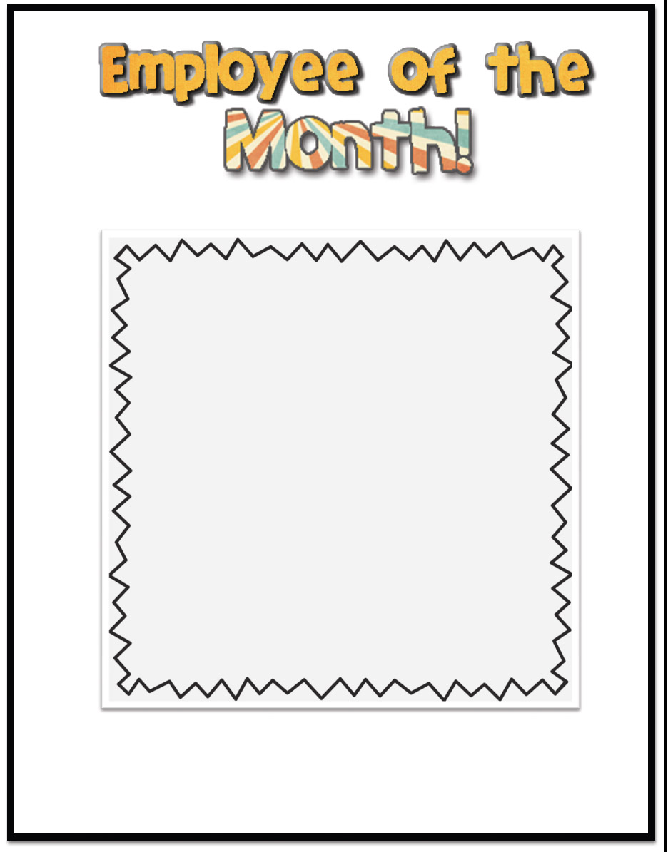 employee of month template