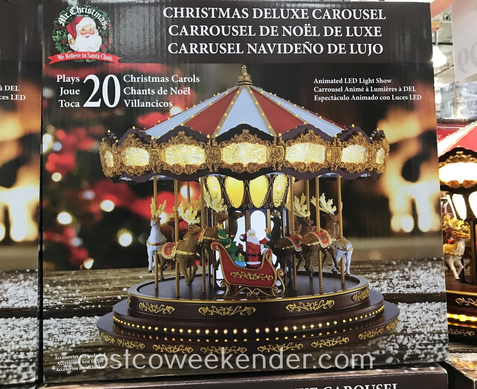 Costco 2002054 - Mr. Christmas Deluxe Carousel: perfect for the holidays