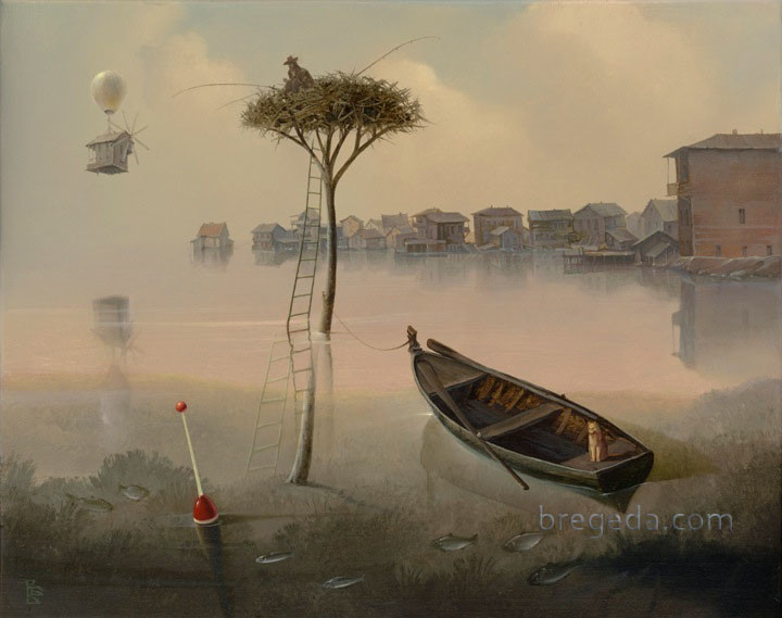 09-Gone-Fishing-Victor-Bregeda-Surreal-Paintings-Encapsulating-a-Message-www-designstack-co