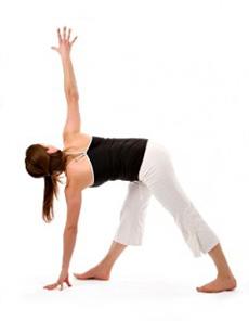 yoga posesrevolved triangle pose