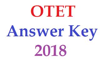 OTET Answer Key 2018