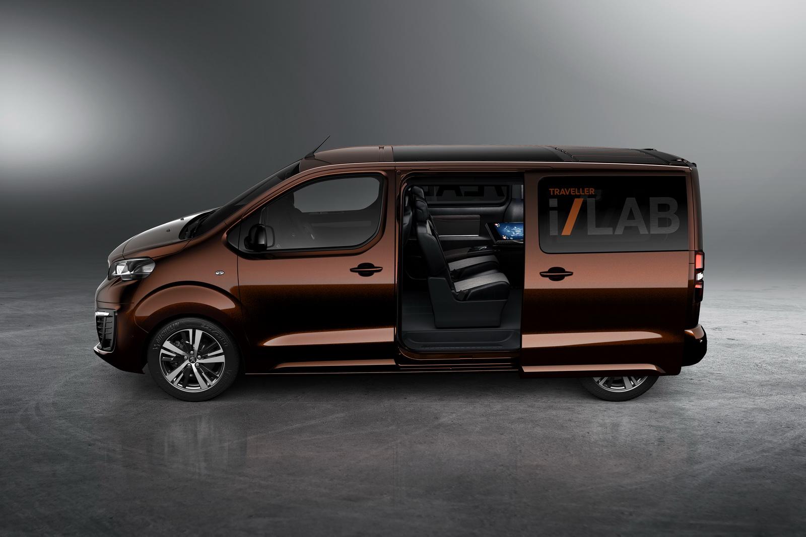 peugeot reveals traveller i lab concept a vip shuttle for. Black Bedroom Furniture Sets. Home Design Ideas