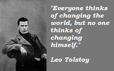 Famous Quotes About Life Changes: everyone thinks of changing the world,