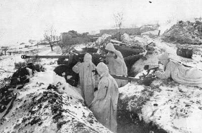 Duitse troepen voor Leningrad, winter 1941-1942