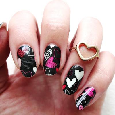 Hearts A Glow Nails