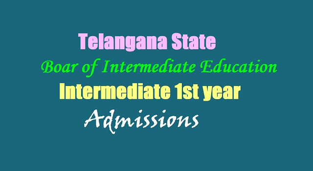 TS Inter 1st year Admissions 2017 schedule for Govt, Private, Residential, SW,TW, Model Junior Colleges