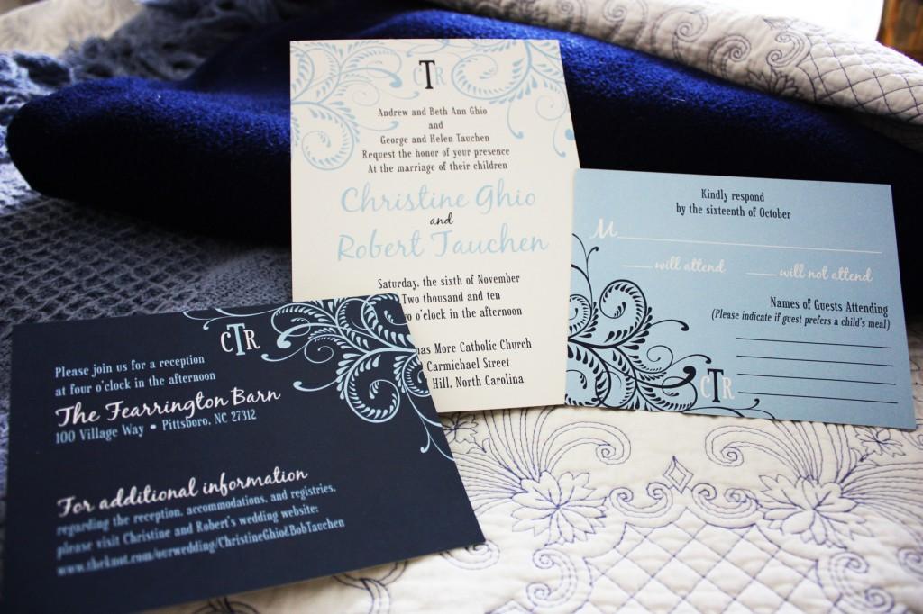 Navy Blue Invitations Wedding: Blue Wedding Invitations