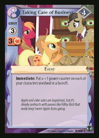 My Little Pony Taking Care of Business Defenders of Equestria CCG Card