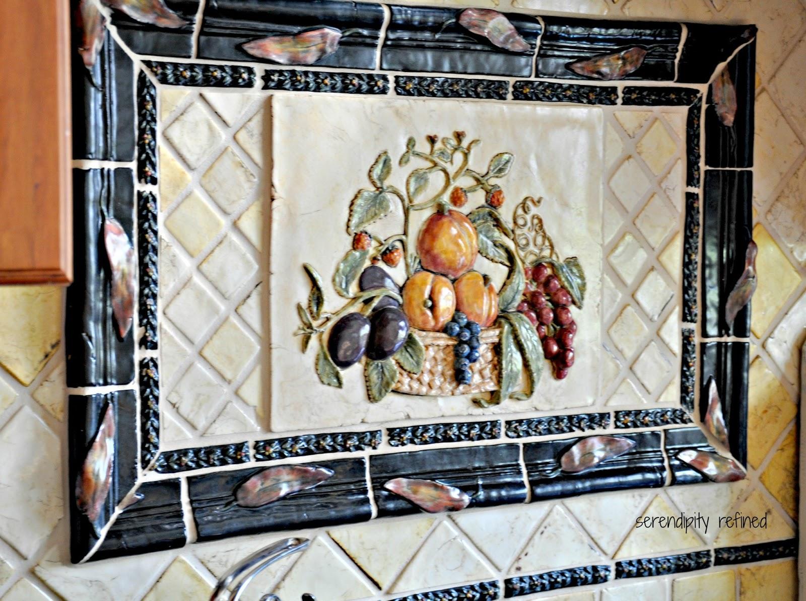 Ceramic Tile Murals For Kitchen Backsplash Serendipity Refined Blog My Kitchen Back Splash Hand